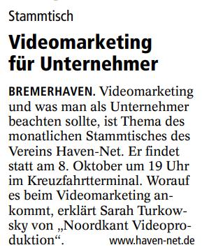 30.09.2019 - Vortrag Videomarketing
